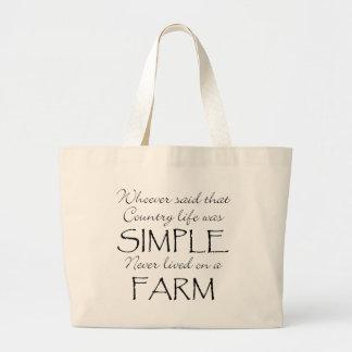 La vida simple bolsas lienzo