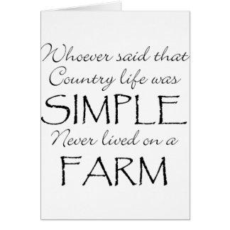 La vida simple tarjeta