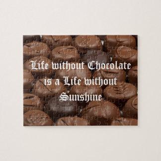 La vida sin el chocolate es una vida sin sol puzzle