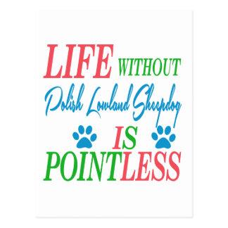 La vida sin el perro pastor polaco de la tierra postal