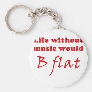 La vida sin música B plano Llaveros Personalizados