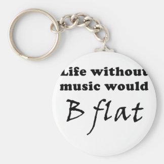 La vida sin música B plano Llaveros