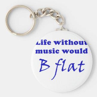 La vida sin música B plano Llavero