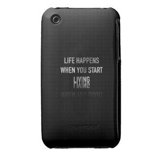 La vida sucede cuando Case-Mate iPhone 3 protectores