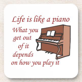 LA VIDA TIENE GUSTO DE UN PIANO POSAVASOS DE BEBIDAS