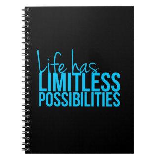 La vida tiene posibilidades ilimitadas libro de apuntes con espiral