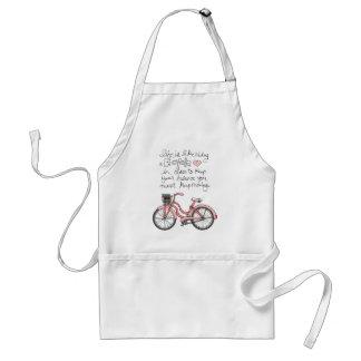la vida vol25 es como montar una bicicleta delantal