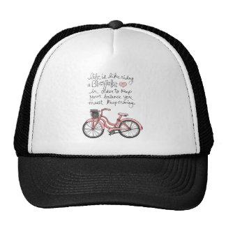 la vida vol25 es como montar una bicicleta gorras