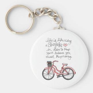 la vida vol25 es como montar una bicicleta llavero redondo tipo pin