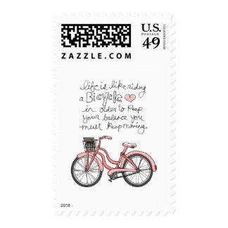 la vida vol25 es como montar una bicicleta timbre postal