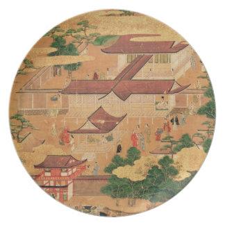 La vida y los pasatiempos de la corte japonesa, To Platos Para Fiestas