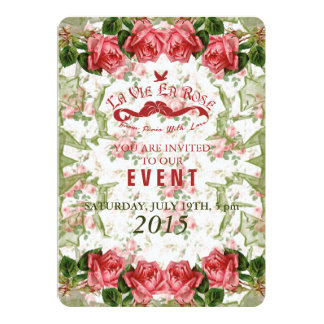 La Vie En Rose - Event Invitation Card / Invite