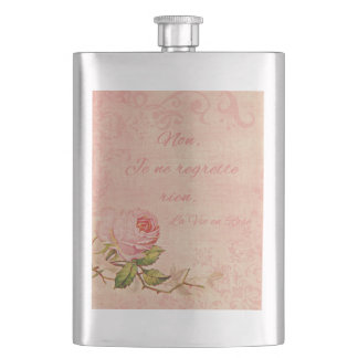 La Vie En Rose Hip Flask