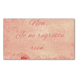 La Vie En Rose Magnetic Business Card