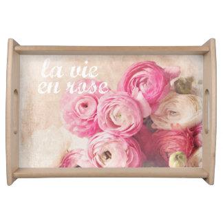la vie en rose serving tray