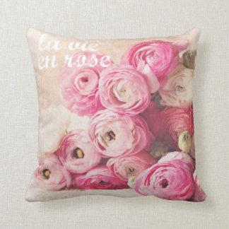la vie en rose shabby chic pillow
