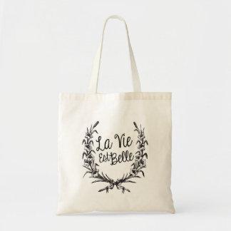 La Vie Est Belle Budget Tote Bag