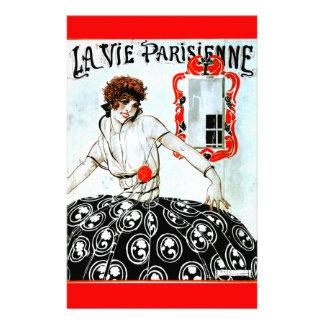 """La Vie Parisienne """"Parisian life"""" - 1920 Cover Stationery Design"""