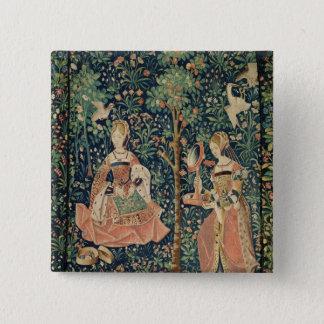 La Vie Seigneuriale: Embroidery, c.1500 Button