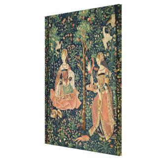 La Vie Seigneuriale: Embroidery, c.1500 Canvas Print