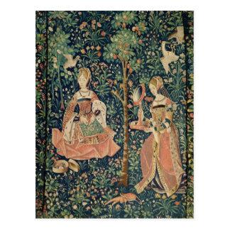 La Vie Seigneuriale: Embroidery, c.1500 Postcard