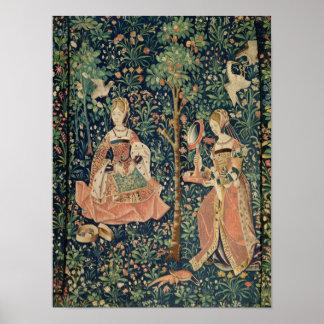 La Vie Seigneuriale: Embroidery, c.1500 Poster