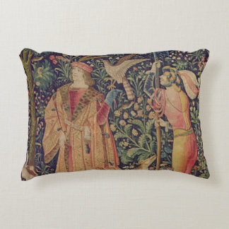 La Vie Seigneuriale - Leaving for the Hunt Accent Pillow