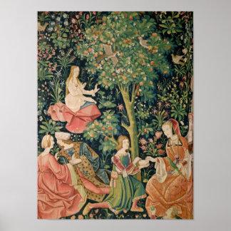 La Vie Seigneuriale: Scene Galante, c.1500 Poster