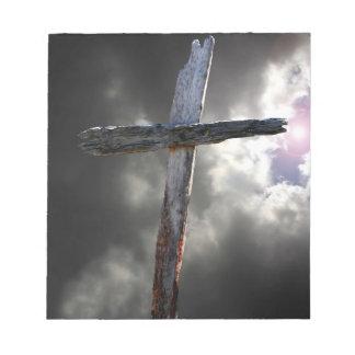 La vieja cruz de madera bloc
