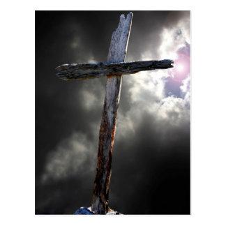 La vieja cruz rugosa tarjeta postal