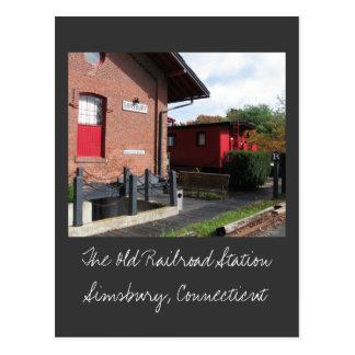La vieja estación de ferrocarril en Simsbury Postal