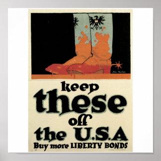 """La vieja """"libertad enlaza"""" el poster C. 1918 de la"""