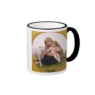 La_Vierge_a_Lagneau - round in frame.jpg, Holy ... Ringer Coffee Mug