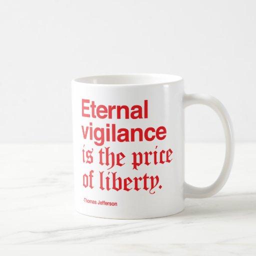 ¡La vigilancia eterna requiere mucho café! /Rojo Taza