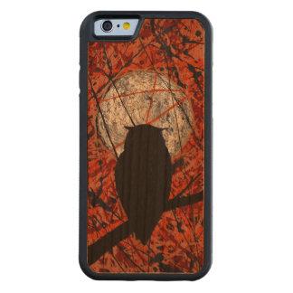 ¡LA VIGILIA! ~ (del diseño abstracto del búho) Funda De iPhone 6 Bumper Cerezo