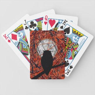 LA VIGILIA (no puede luchar el tema del búho del ~ Baraja Cartas De Poker