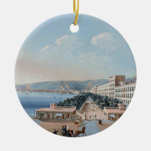 La Villa Reale di Chiaia, Nápoles (aguazo en el Adorno Redondo De Cerámica