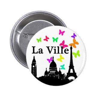 La Ville: París Pin Redondo De 2 Pulgadas