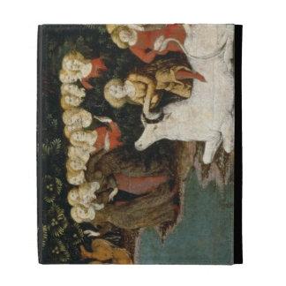 La violación del Europa, c.1470 (aceite en el pane