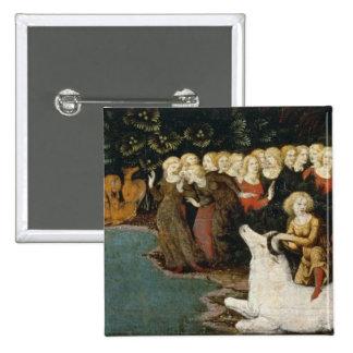 La violación del Europa, c.1470 (aceite en el pane Pin Cuadrada 5 Cm