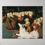 La violación del Europa, c.1470 (aceite en el pane Póster
