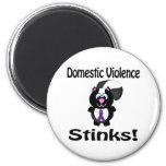 La violencia en el hogar apesta diseño de la conci imán para frigorífico