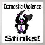 La violencia en el hogar apesta diseño de la conci impresiones