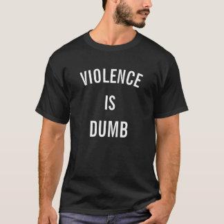 La violencia es camiseta muda