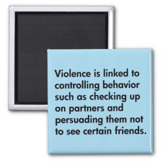 La violencia se liga al comportamiento que imán cuadrado