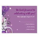La violeta caliente remolina tarjeta de invitación 10,8 x 13,9 cm