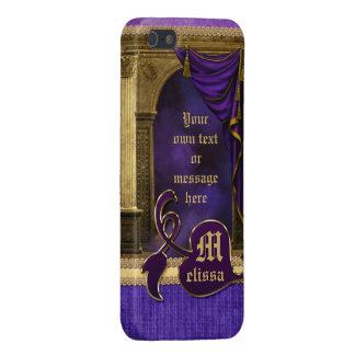 La violeta clásica magnífica de las columnas del a iPhone 5 funda