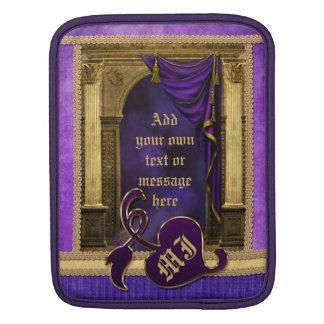 La violeta clásica magnífica de las columnas del mangas de iPad