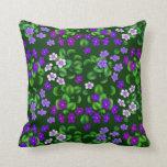 La violeta de jardín púrpura oscura florece la cojin