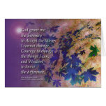 La violeta del rezo de la serenidad sale de la tar felicitacion